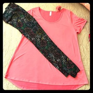🌷Solid Coral Classic T and TC Leggings🌷